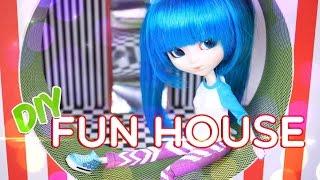 getlinkyoutube.com-DIY - How to Make: Doll Fun House - Silly Mirror - Maze - Doll - Craft - 4K