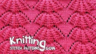 getlinkyoutube.com-Parasol stitch   Lace Knitting #15