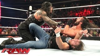 getlinkyoutube.com-Roman Reigns & Dean Ambrose vs. Kane & Seth Rollins - No Disqualification Tag Team Match: Raw, June