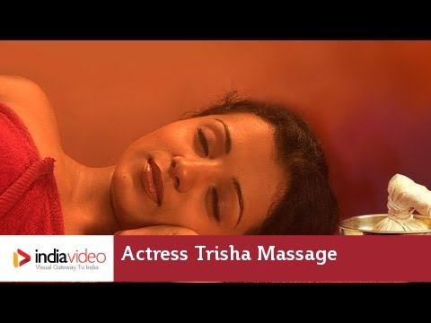 Massage video of film actress Trisha, one of her earliest work