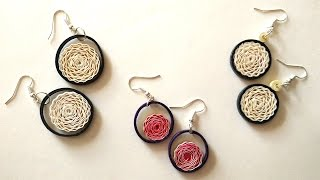 getlinkyoutube.com-How To Make Earrings Using Paper Art Quilling