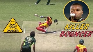 getlinkyoutube.com-Top 10 Killer Bouncer on Face in Cricket  ► Batsman gets Injured ◄