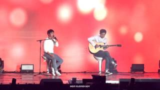 getlinkyoutube.com-151010 EXO-Love concert - Boyfriend(acoustic ver.) D.O. with Chanyeol