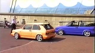 getlinkyoutube.com-Max Power Blackpool 1996 - Awesome and Deutchcar Mk1 Golfs