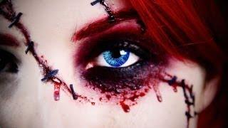 "getlinkyoutube.com-""Sexy"" Chucky Doll Halloween Makeup Tutorial | Jessica Harlow"