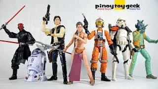 getlinkyoutube.com-Star Wars Black Series Luke Skywalker Darth Maul Stormtrooper R2D2 Wave 1 & 2 Unboxing