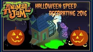 getlinkyoutube.com-Animal Jam: Speed Decorating For Halloween 2016!
