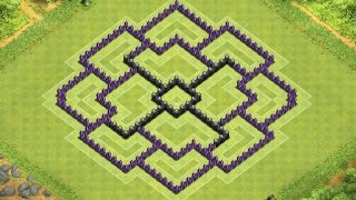 getlinkyoutube.com-Clash of Clans Town Hall 8 Defense (CoC TH8) BEST Farming Base Layout Defense Strategy