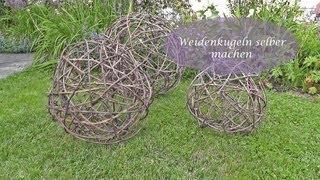getlinkyoutube.com-DIY - Kugel aus Reb- oder Weidenzweigen selbermachen