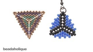 getlinkyoutube.com-How to Bead Weave a Triangle Using Peyote and Herringbone Stitches
