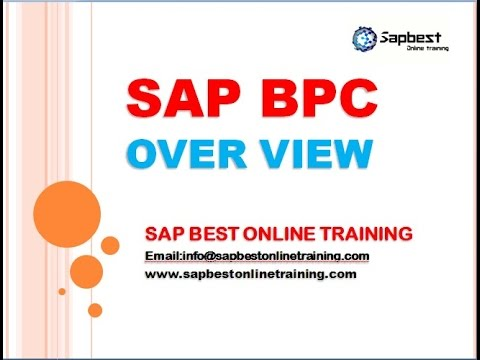 SAP BPC ONLINE TRAINING | BPC TRAINING DEMO | BPC LIVE DEMO CLASS