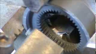getlinkyoutube.com-Broaching internal and external gears on lathe