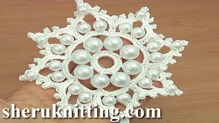 getlinkyoutube.com-Crochet Snowflake Ornament With Beads Tutorial 19