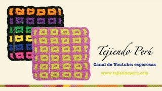 getlinkyoutube.com-Cómo tejer el punto filet entretejido a crochet