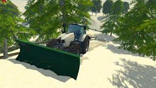 getlinkyoutube.com-Farming Simulator 15 Plowing Snow