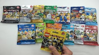 getlinkyoutube.com-LEGO Minifigures Opening - ALL 14 LEGO Minifigures Series!