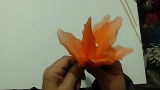 getlinkyoutube.com-Tutorial Lirio de Nylon - How to make a nylon flower: Lily
