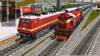 getlinkyoutube.com-Indian MSTS Loco change; Diesel to Electric; WDM3D~WAP4;