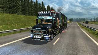 getlinkyoutube.com-ETS2 1.25  Sound V8 Scania T 730 Monster Energy