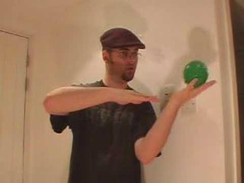 ウォーキングハーフパイプ シングルボールコンタクトジャグリング