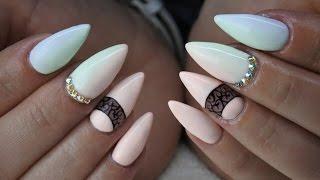 getlinkyoutube.com-Pastel Ombre nails lakiery hybrydowe by Natalia Siwiec Indigo + Kryształy Swarovskiego