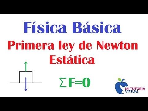 Primera Ley de Newton - Estatica de la Particula - Ejercicio de Aplicacion