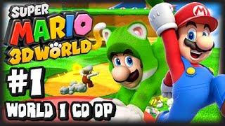getlinkyoutube.com-Super Mario 3D World Wii U - (1080p) Co-Op Part 1 - World 1