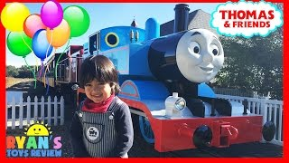 getlinkyoutube.com-THOMAS AND FRIENDS Train Rides for kids Thomas Land Edaville USA amusement park Ryan ToysReview