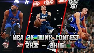 getlinkyoutube.com-History of NBA 2K Slam Dunk Contest - (2K8-2K16)