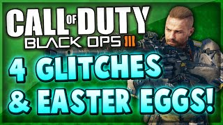 4 Black Ops 3 Glitches & Easter Eggs On Hunted & Evac! (BO3 Glitch Spots)