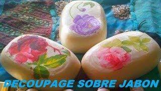 getlinkyoutube.com-Tutorial -  Decoupage sobre jabón