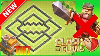 Clash of Clans || New Th7 Trophy Base (No Barb King) No BK - Hybrid Town Hall 7 Trophy Base | CoC