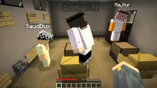getlinkyoutube.com-Minecraft Custom Map : الهروب من المدرسه w/ Majtur / Soma_N