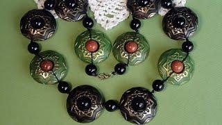 getlinkyoutube.com-Делаем бусы из пластики. Making beads from plastic.