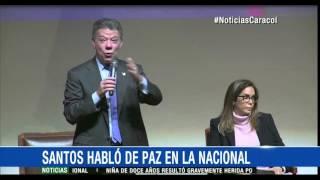 Entre rechiflas y aplausos, Santos habló con estudiantes de la U. Nacional