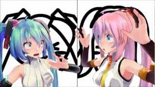 getlinkyoutube.com-[MMD] 愛Dee (AiDee) Miku & Luka by MitchieM and Cotori (to 2nd Chorus)