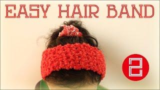 getlinkyoutube.com-簡単ヘアバンド(2)【編み方レッスン編】 diy crochet headhairband