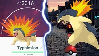 getlinkyoutube.com-MAXED OUT TYPHLOSION IN POKEMON GO | Gen 2 Night Hunt PLUS Evolutions
