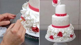 getlinkyoutube.com-Wedding Cake Decorating Ideas by CakesStepbyStep
