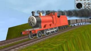 getlinkyoutube.com-Thomas Trainz-James Down Hill