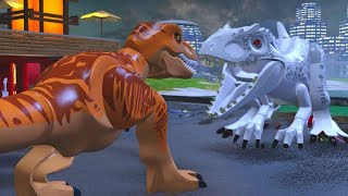 getlinkyoutube.com-LEGO Jurassic World Walkthrough Part 20: Jurassic World Ending (Jurassic World)