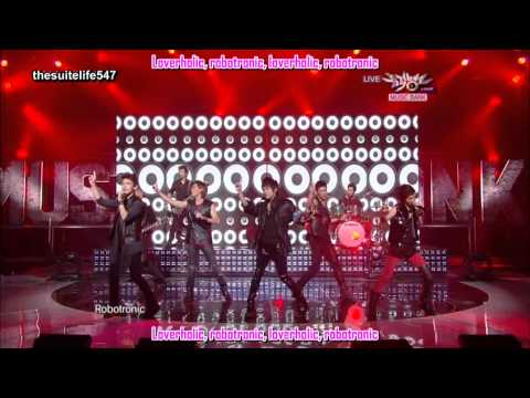 SHINee feat. TRAX - Lucifer (Rock Version) [Music Bank] (100910) {Hangul, Romanization, Eng Sub}