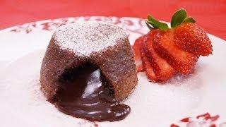 getlinkyoutube.com-Molten Chocolate Cakes Recipe: Chocolate Lava Cake Recipe: How To: Di Kometa-Dishin' With Di  #131