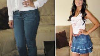 getlinkyoutube.com-Transforme calça jeans em saia com babado by Customização & Cia