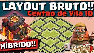 getlinkyoutube.com-LAYOUT BRUTO HÍBRIDO CV 10 e DICAS de DEFESA - CV10 - Clash of Clans