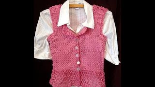 getlinkyoutube.com-CROCHET SIDEWAYS VEST OR SUMMER TOP, Sweater video pattern, 3 to 6 months size