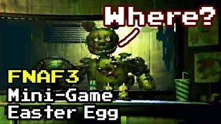 Five Nights at Freddy's 3 - All Secrets / Mini-Game / Easter Egg FNAF 3