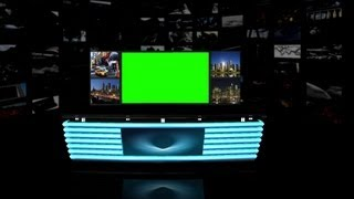 getlinkyoutube.com-Virtual TV Studio Background - green screen