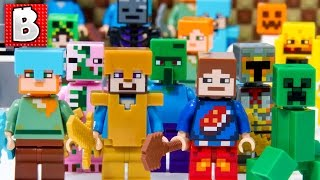 getlinkyoutube.com-Every Lego Minecraft Minifigure Ever Made!!! + All Critters | Collection Review