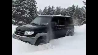 getlinkyoutube.com-УАЗ - Patriot -  Блокировки зимой ! )))
